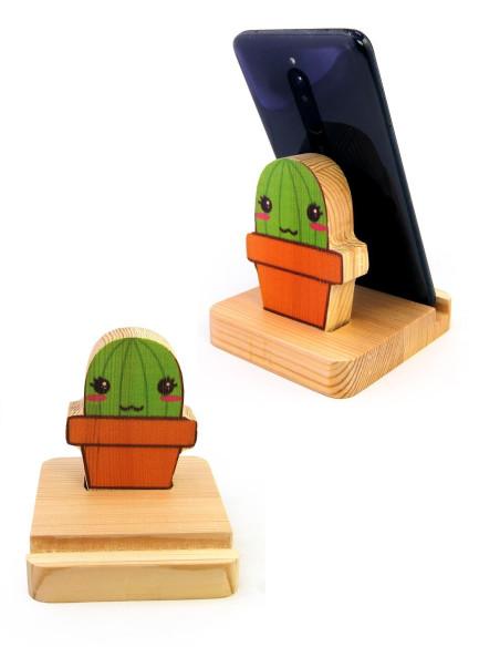 kaktüs tasarımlı telefon standı