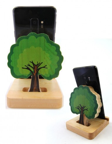 ağaçlı telefon standı