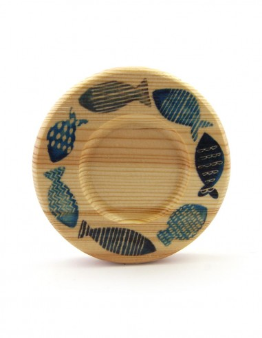 balık desenli çay tabağı