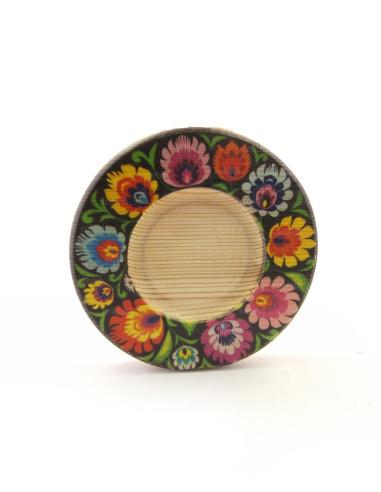 çiçekli çay tabağı