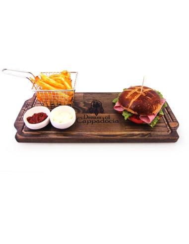 hamburger-pide sunum tabağı