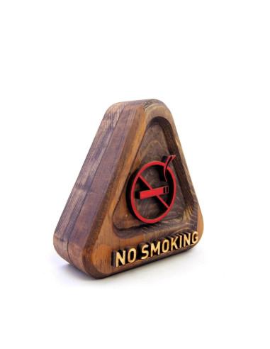 sigara icilmez ahsap tabela