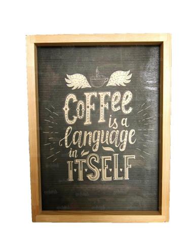 kahve temalı ahşap duvar tablosu