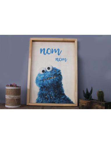 kurabiye canavarı ahşap tablo