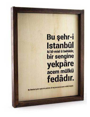 İstanbul ahşap dekoratif tablo