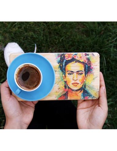Frida Kahlo ahşap sunum