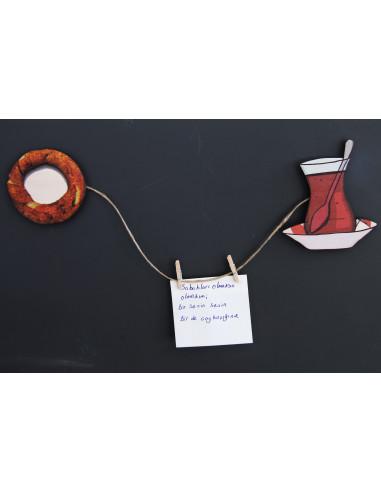 çay-simit 2li magnet