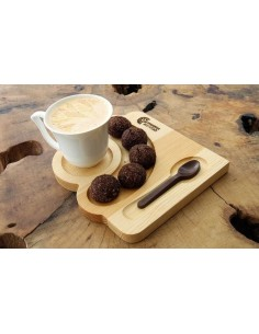 Ahşap çay kahve sunum tabağı
