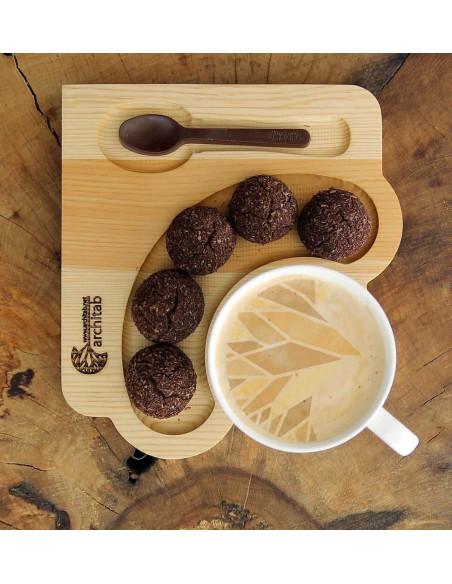 Ahşap Kahve Tabağı
