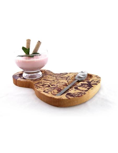 Bambu tatlı tabağı