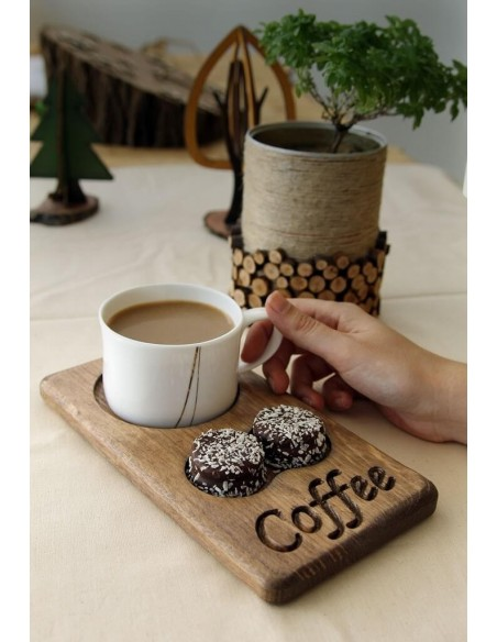 Bambu kahve sunumu
