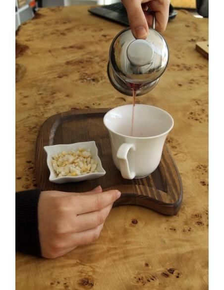 filtre kahvesi ahşap sunum