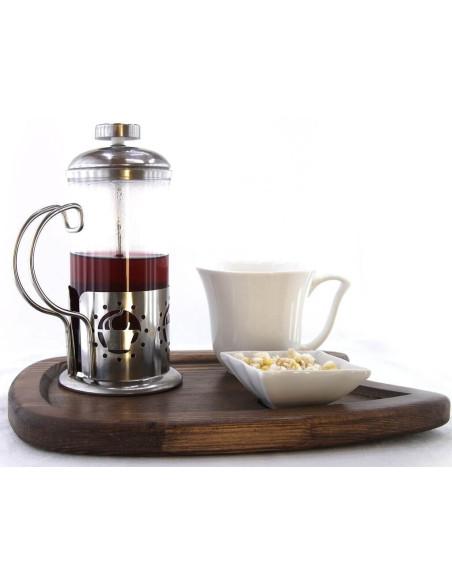 filtre çay ahşap sunum tepsisi