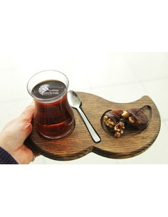 ahşap çay sunum bambu tabak