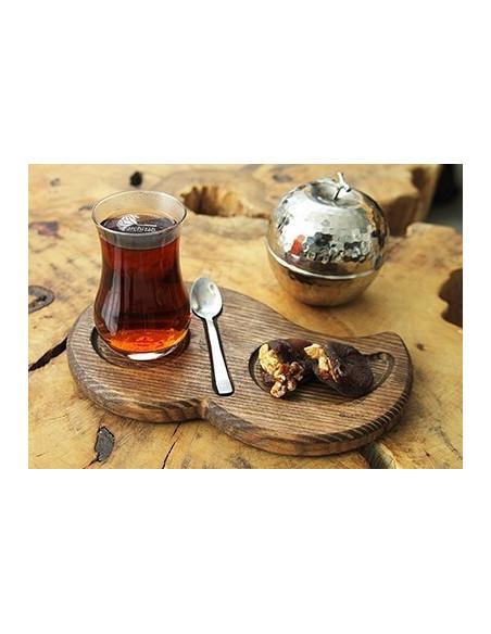 organik form çay servis tabağı