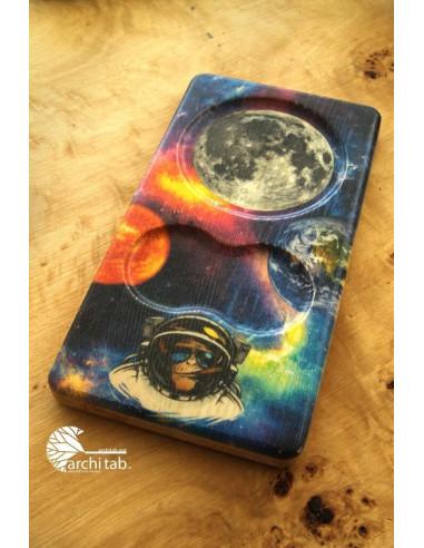 uzay temalı tahta tabak