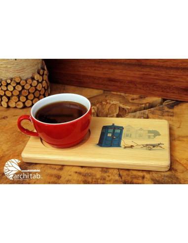 Tardis Kahve Çay Sunum Tahtası