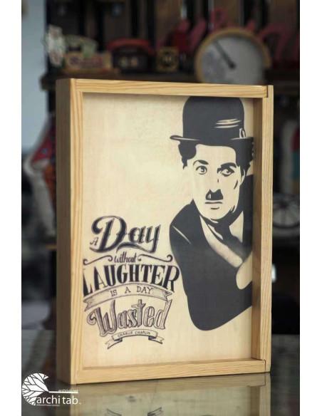Charlie Chaplin ahşap tablo