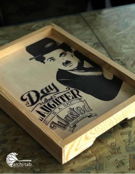 Charlie Chaplin dekoratif tablo
