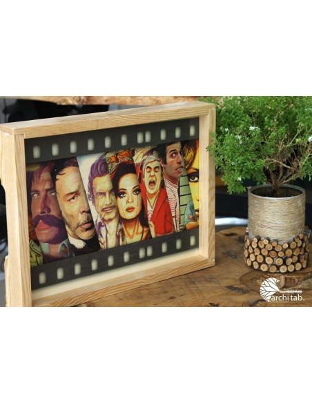 Türk Sineması ünlüler ahşap tablo ve tepsi