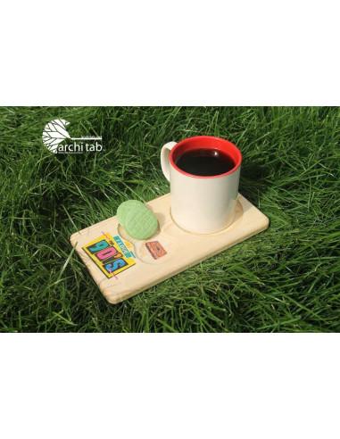 doksanlar ahşap çay ve kahve sunumu