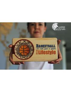 basketbol sevenlere hediye ahşap sunum