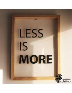 less is more dekoratif tablo