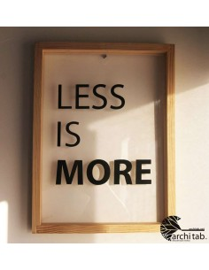 less is more tablo