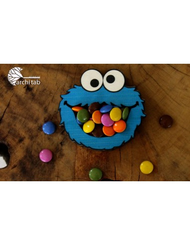 kurabiye canavarı ahşap şekerlik