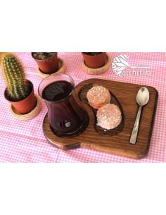 Bambu çay sunum tabağı