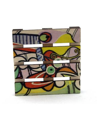 Picasso mini palet bardak altlığı