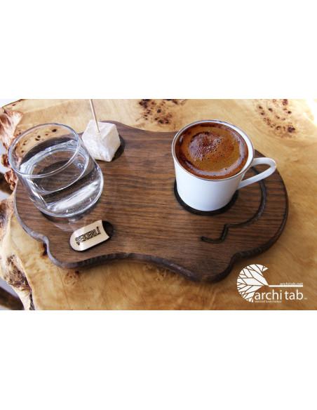 Osmanlı harem Türk kahvesi ahşap sunum tahtası