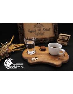 Damat kahvesi sunum tabağı