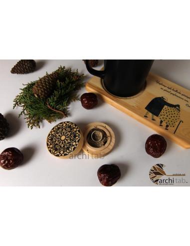 osmanlı motifli doğal ahşap yüzük kutusu