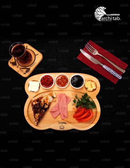 bambu kahvaltı tabağı