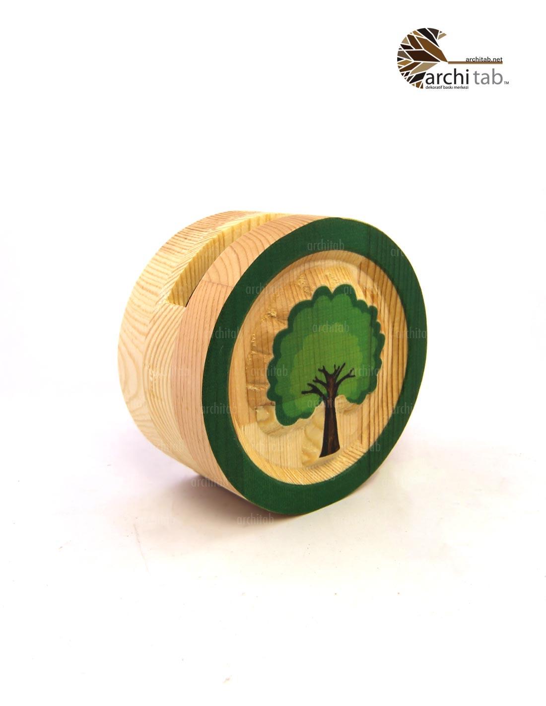 ağaç baskılı ahşap oyma kalemlik